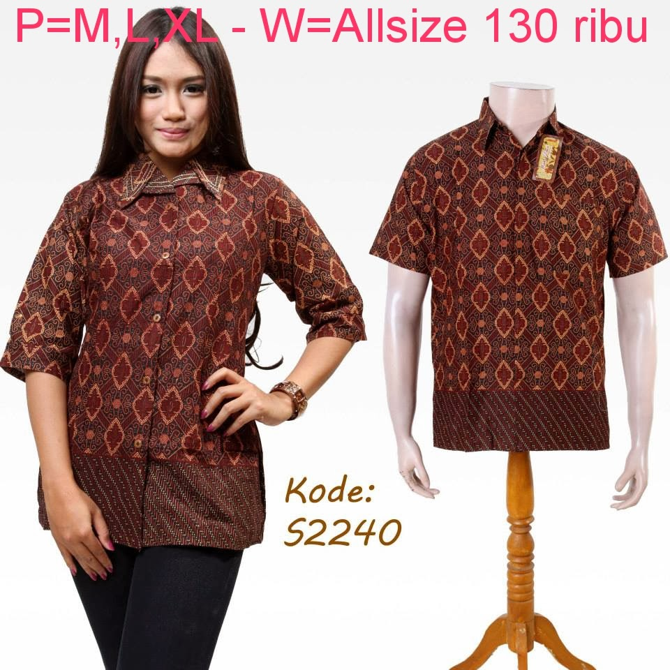Baju Batik Couple Family