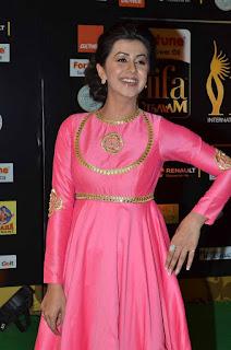 Actress Nikki Galrani Stills in Pink Long Dress at IIFA Utsavam Awards 2016 25282