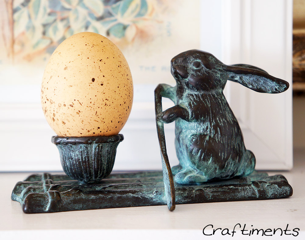 Craftiments:  Rabbit on a raft rowing an egg