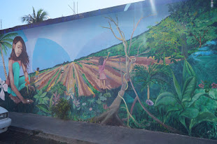 Incredible Mural in the town of Tulum