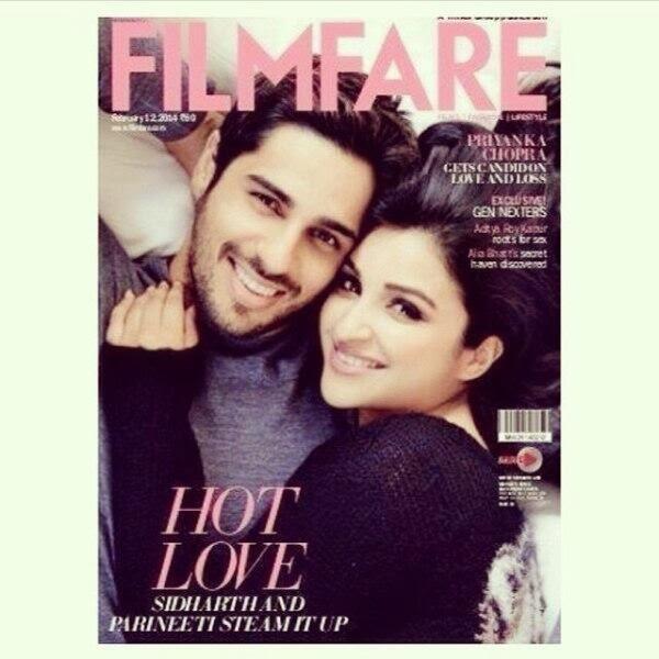 Sidharth and Parineeti cover Filmfare February 14 issue