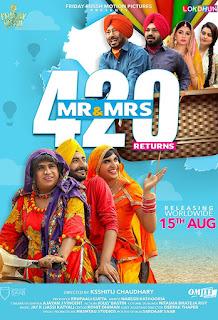 Mr & Mrs 420 Returns (2018) Punjabi Movie HDTVRip | 720p | 480p