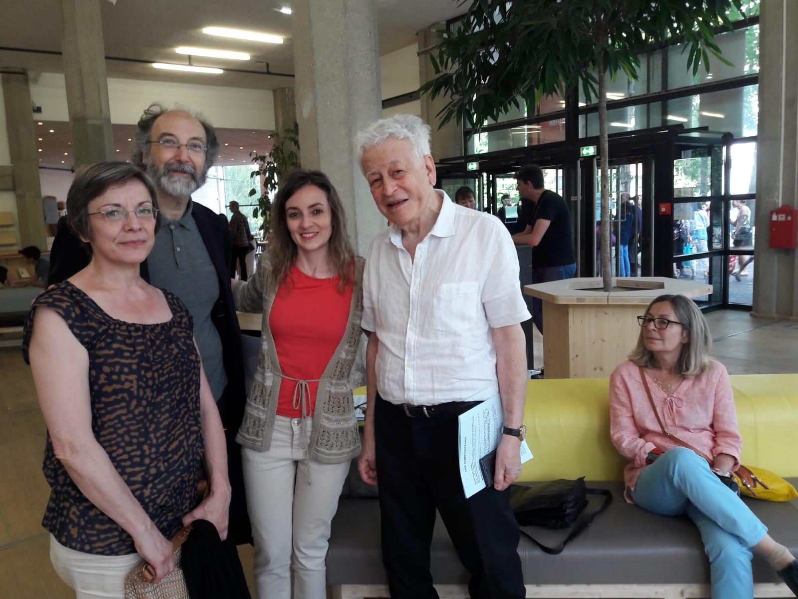 Frédérique Cambreling, Marisa Acuña, Paul Mefano y Delphine Thomassin
