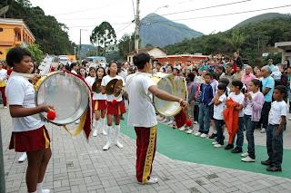 Banda Dançante do Cedal fez apresentações durante toda a solenidade