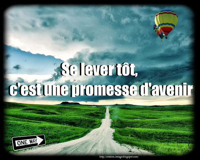 Citation sur promesses en image