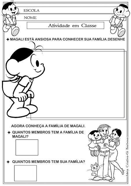 Atividade A Família Educação Infantil/ Identidade e Autonomia