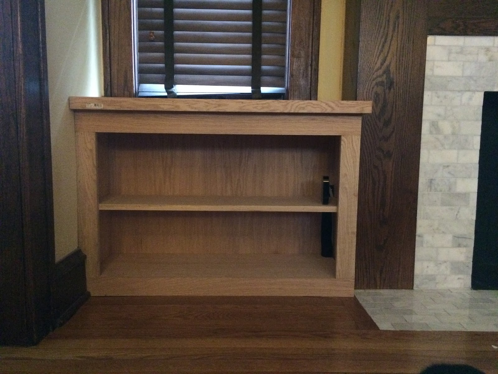 Craftsman style built in cabinets - After Finishing The Box And Counter I Made Measurements For The Doors