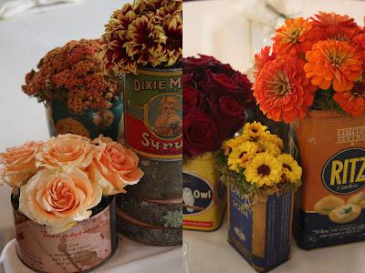 Bridal  Ideas on Tin Can Wedding Ideas  Charming Centerpieces   Decor    The Bridal