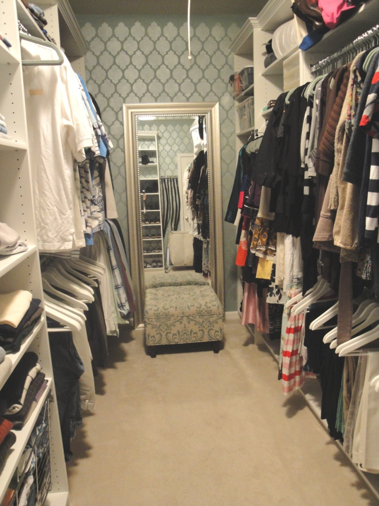 New south design splurge vs steal master closet makeover for Master closet