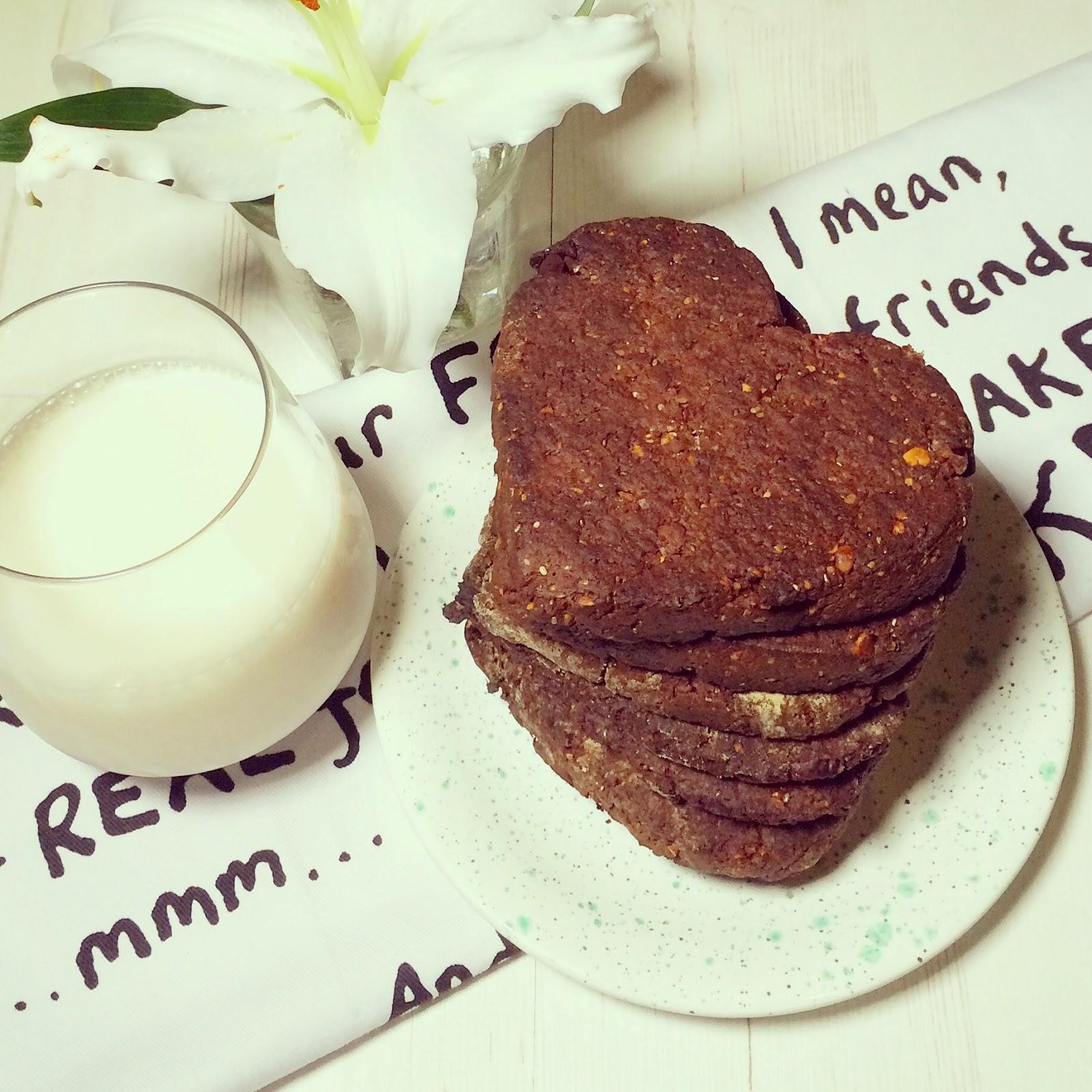 Chia- chocolate cookies ( vegan and gluten free)