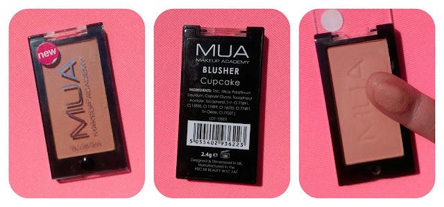 MUA Blush in Cupcake Swatch