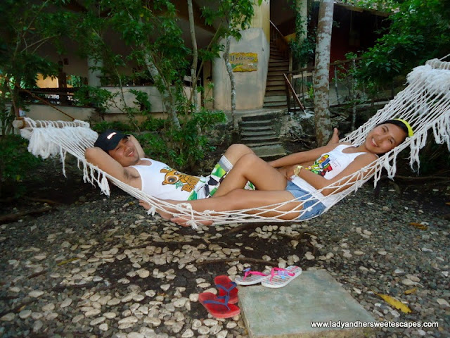 relaxing at Bohol Bee Farm