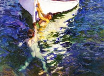 El bot blanc (Joaquim Sorolla i Bastida)
