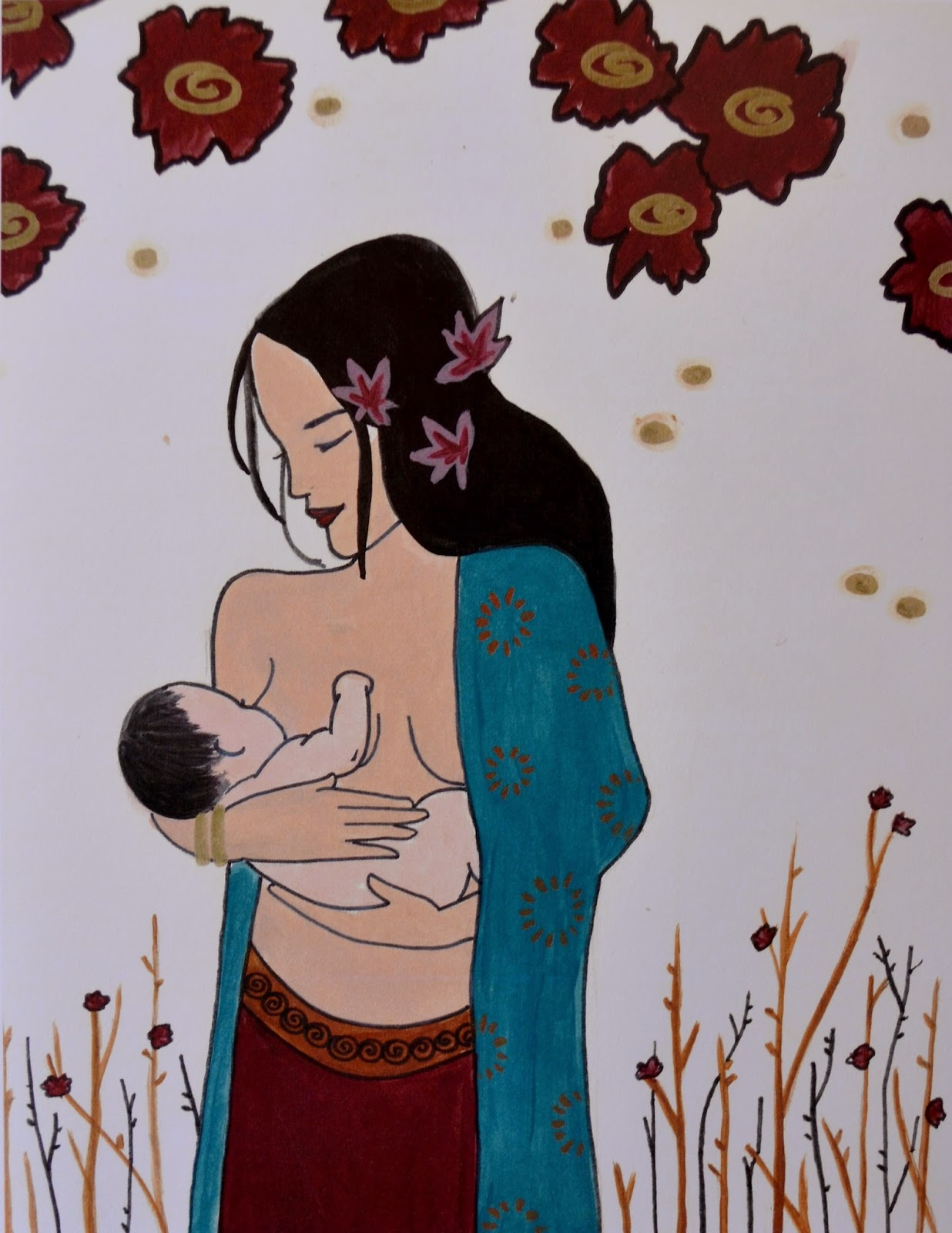 breastfeeding art catie atkinson spiritysol