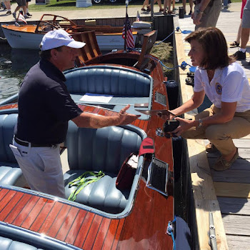 LG Kathy Hochul in Clayton at Antique Boat Museum