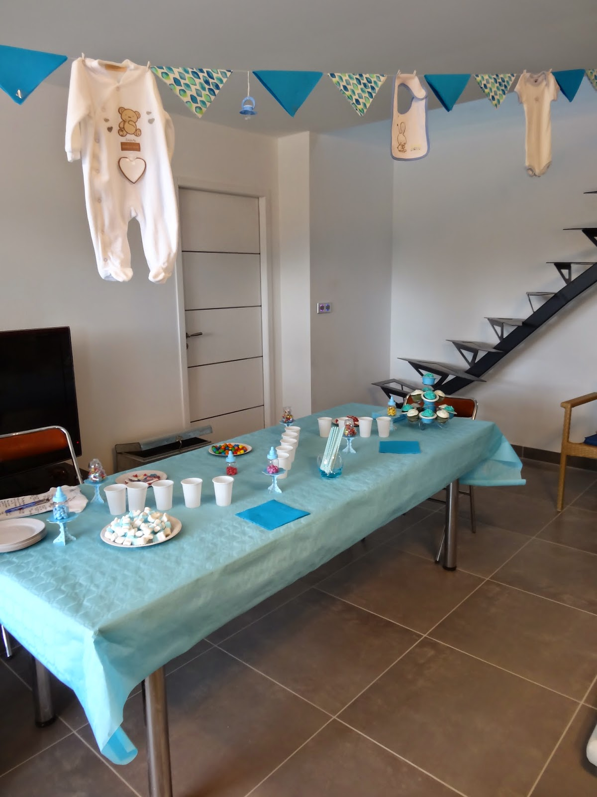 a d m nage en cuisine baby shower it 39 s a boy. Black Bedroom Furniture Sets. Home Design Ideas