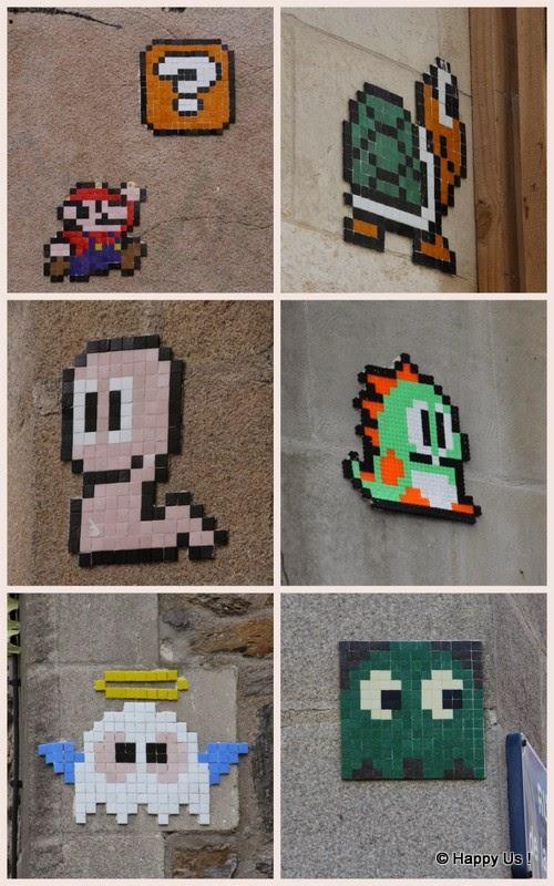 Nantes - mosaïque Nintendo Mario