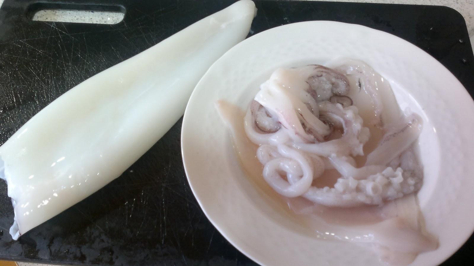 Aderezarte calamar relleno al horno - Limpiar calamares pequenos ...