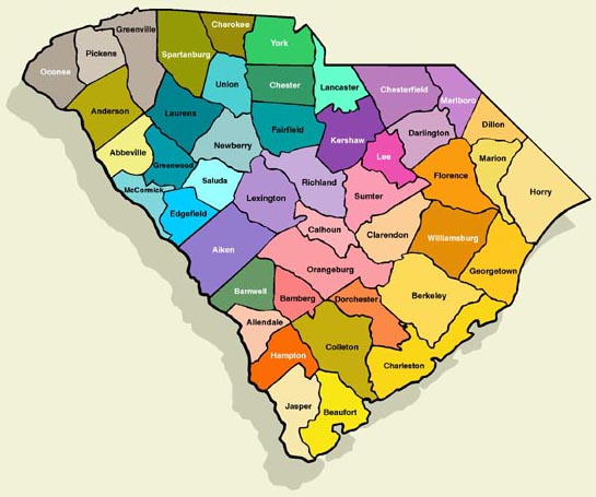 Online Maps South Carolina County Map