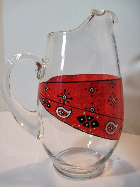 Kudos Kitchen By Renee - Bandanna Painted Pitcher