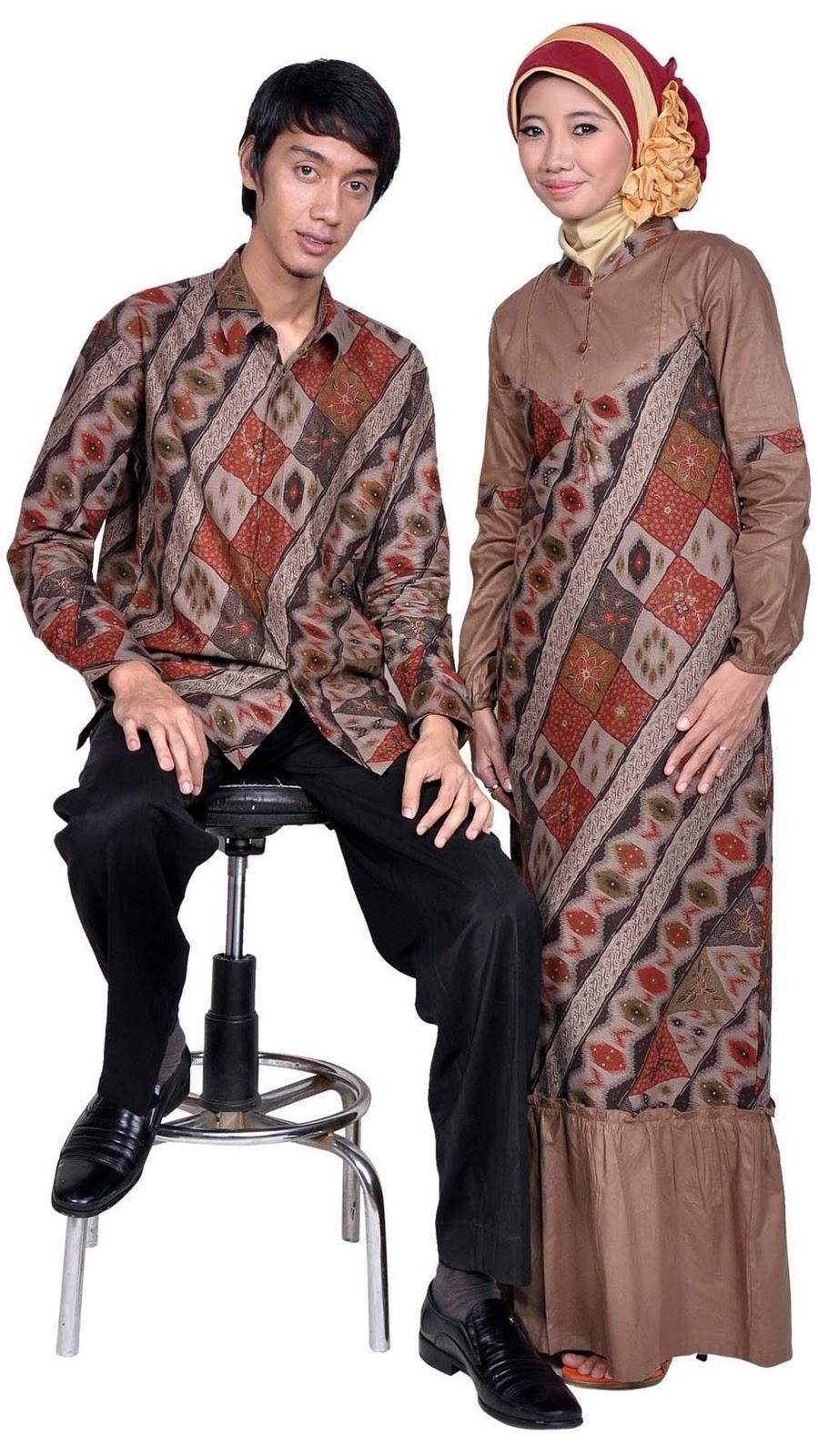 Model Baju Batik Muslim Terbaru 2017 Tentang Cinta