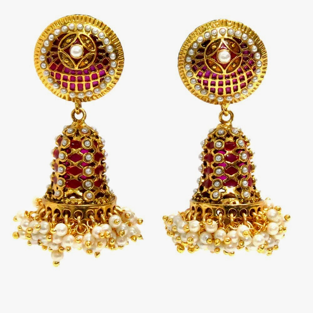 Dynamic Views: Very Best Indian Gold Jhumka Designs 2014-2015 ...