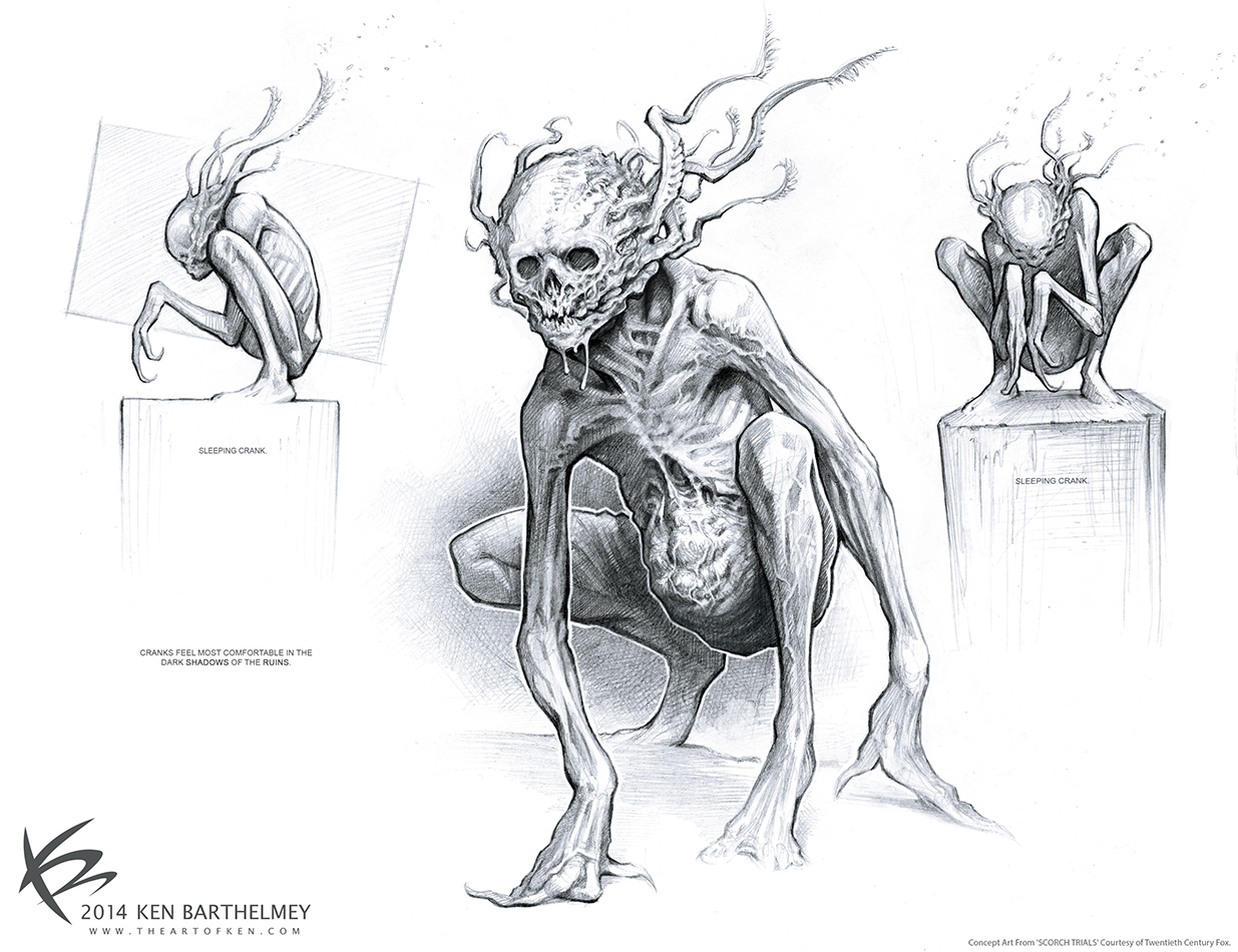 The Art Of Character Design Ken Barthelmey : Insanely scary unused quot scorch trials concept art by ken