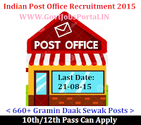 Post Office Recruitment 2015