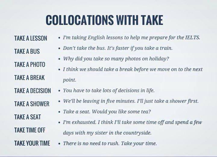 Click On Collocations Phrasal Verbs With Take