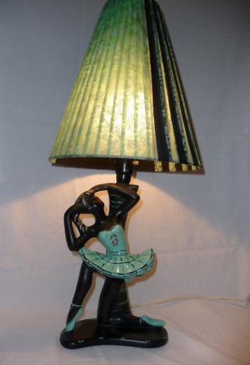 Another Ballerina Lamp With A Beautiful Original Shade.
