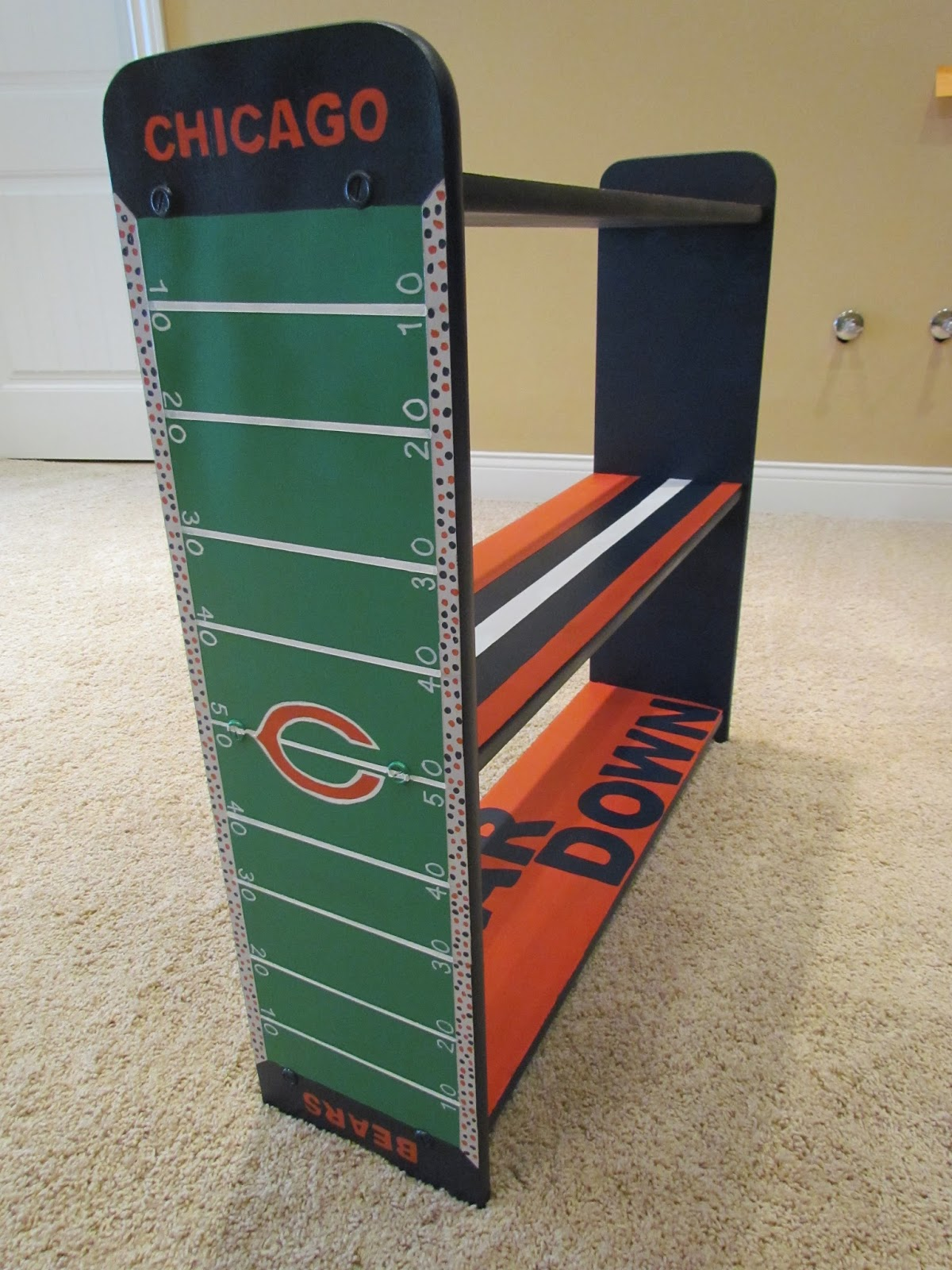 Chicago Bears Bookcase