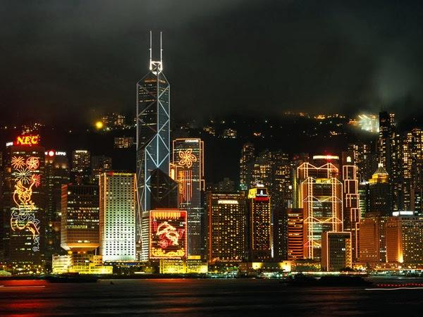Hong Kong at night (China)