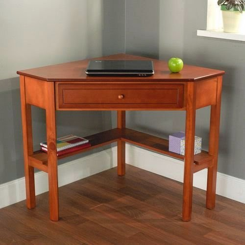 Corner space saving computer table | Space efficiency saving ideas | Interior design and Furniture position ideas | Corner study desk with drawer | Simple furniture to save home space