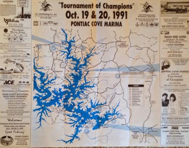 Map Of Resorts On Bull Shoals Lake - Vtwctr