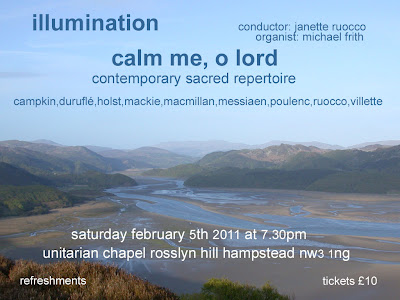 Concert flyer from 'Calm me, O Lord'