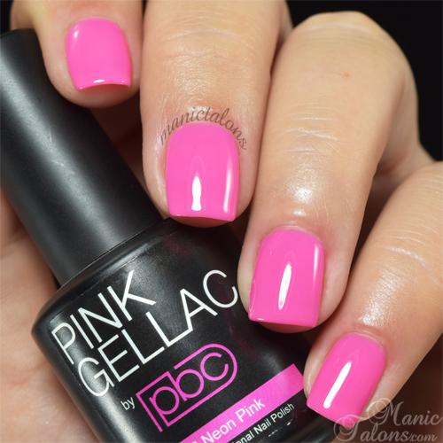 Pink Gellac Neon Pink Swatch