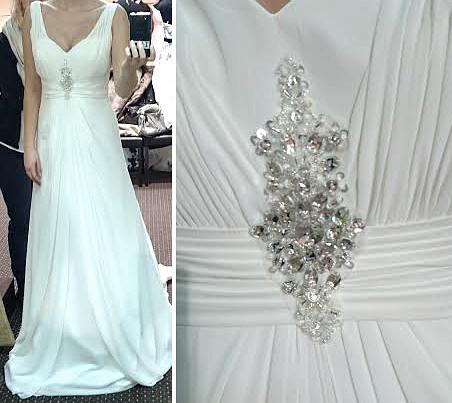Aplikacja na suknię ślubną
