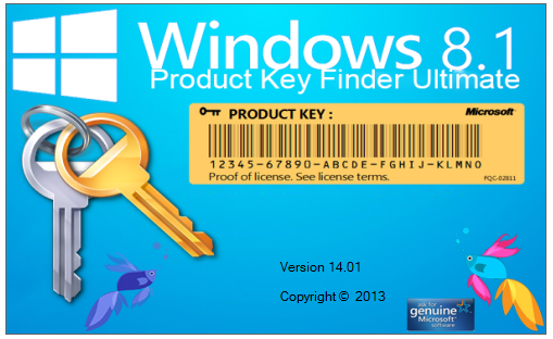 Windows Product Key Finder 8.1 Ultimate 14.01.1
