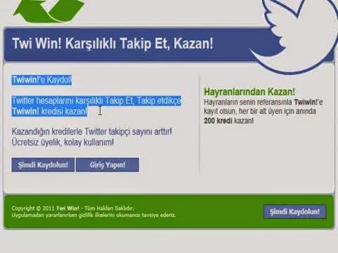 Twi Win! Karşılıklı Takip Et, Kazan