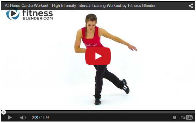 17 Minute At Home Cardio - High Intensity Interval Training Workout