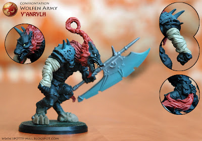 Фигурка героя Y'Anrylh из игровой системы Confrontation: Wolfen Army