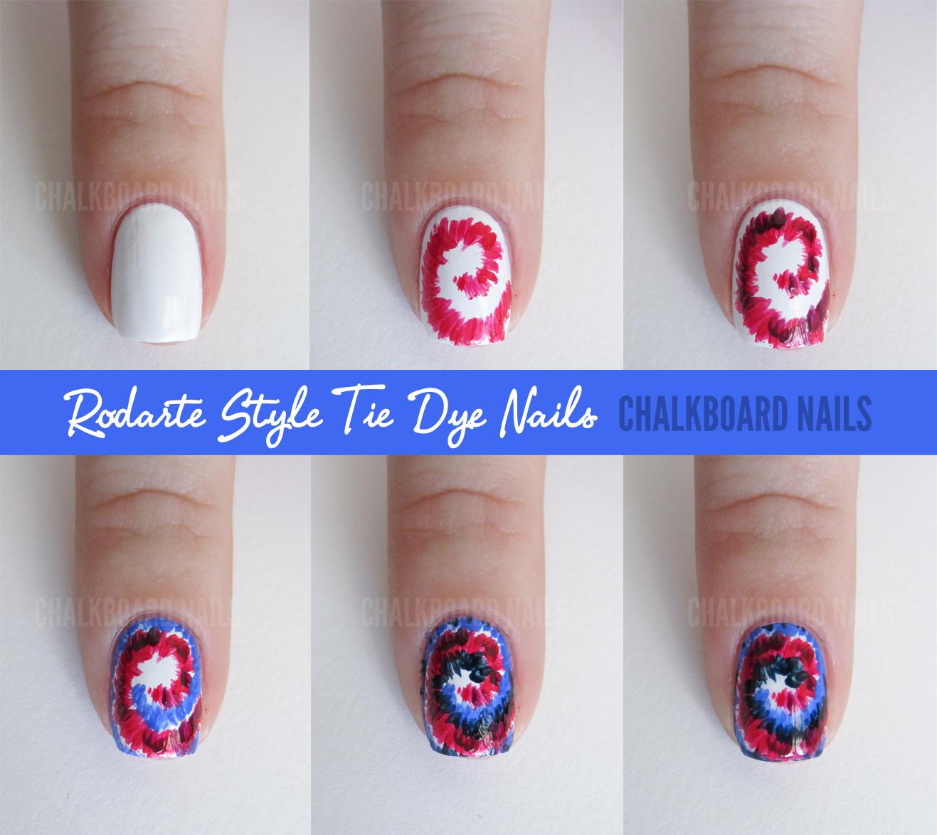 Sally Hansen X Rodarte Tie Dye And Floral Mix Tutorial