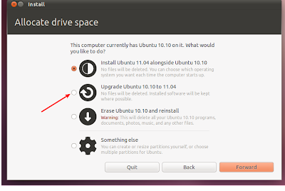 How to Upgrade to Ubuntu 11.04 Natty Narwhal using Live CD