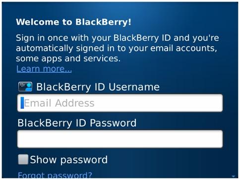 Blackberry Password Password Blackberry id App