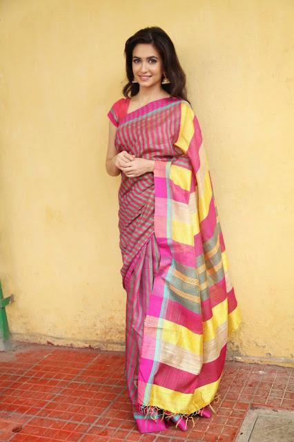 Actress Kriti Kharbanda Stills in Pink Saree