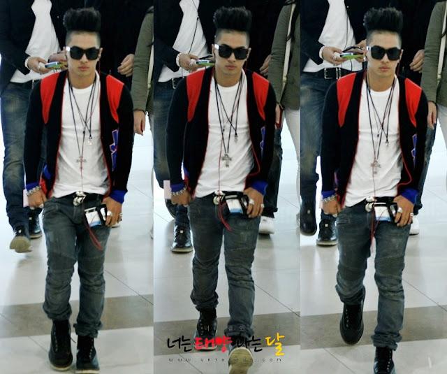 Taeyang at Gimpo Airport