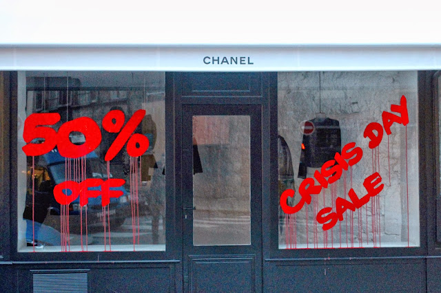 """Crisis Day Sale"" New Attack By Kidult On The Chanel Store In Paris, France. 2"