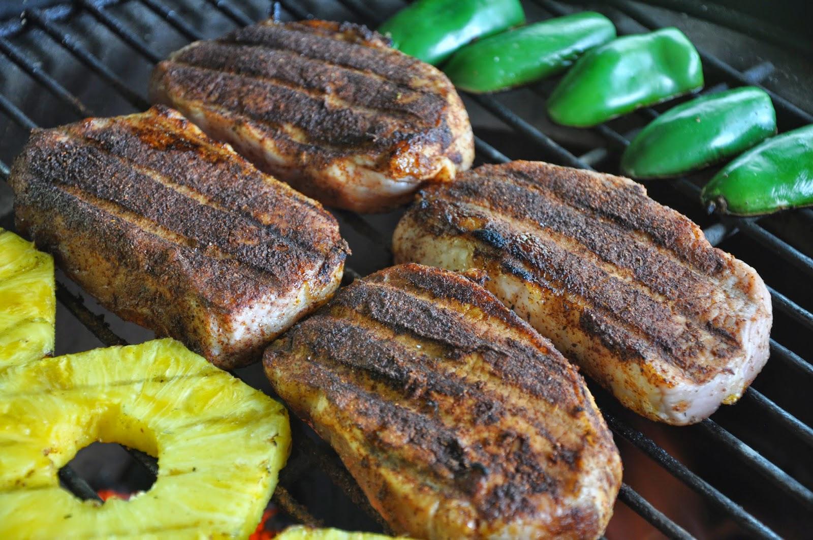 Big T's Big Green Egg Recipe Blog: Father's Day Chili Rubbed Pork ...