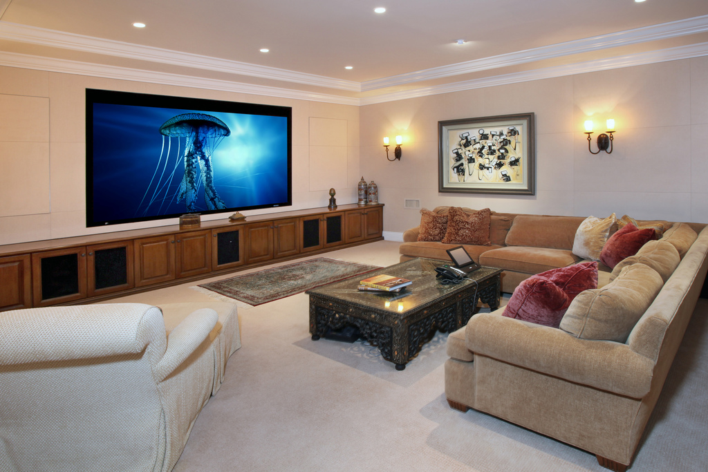 Decoration tv rooms and corner sofas - What size tv to get for living room ...