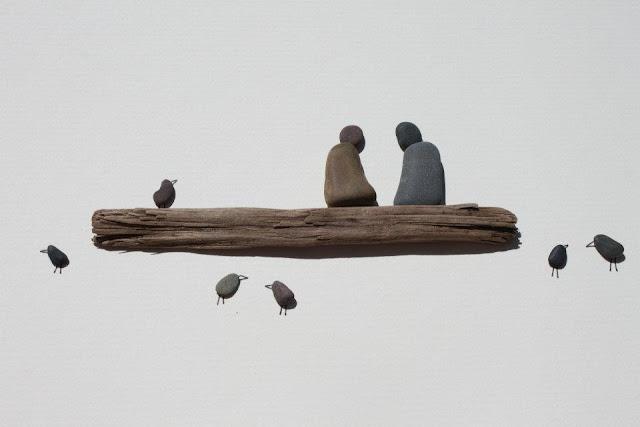 pomysł na dekorację z kamieni DIY inspiracje eco manufaktura Pebble Art